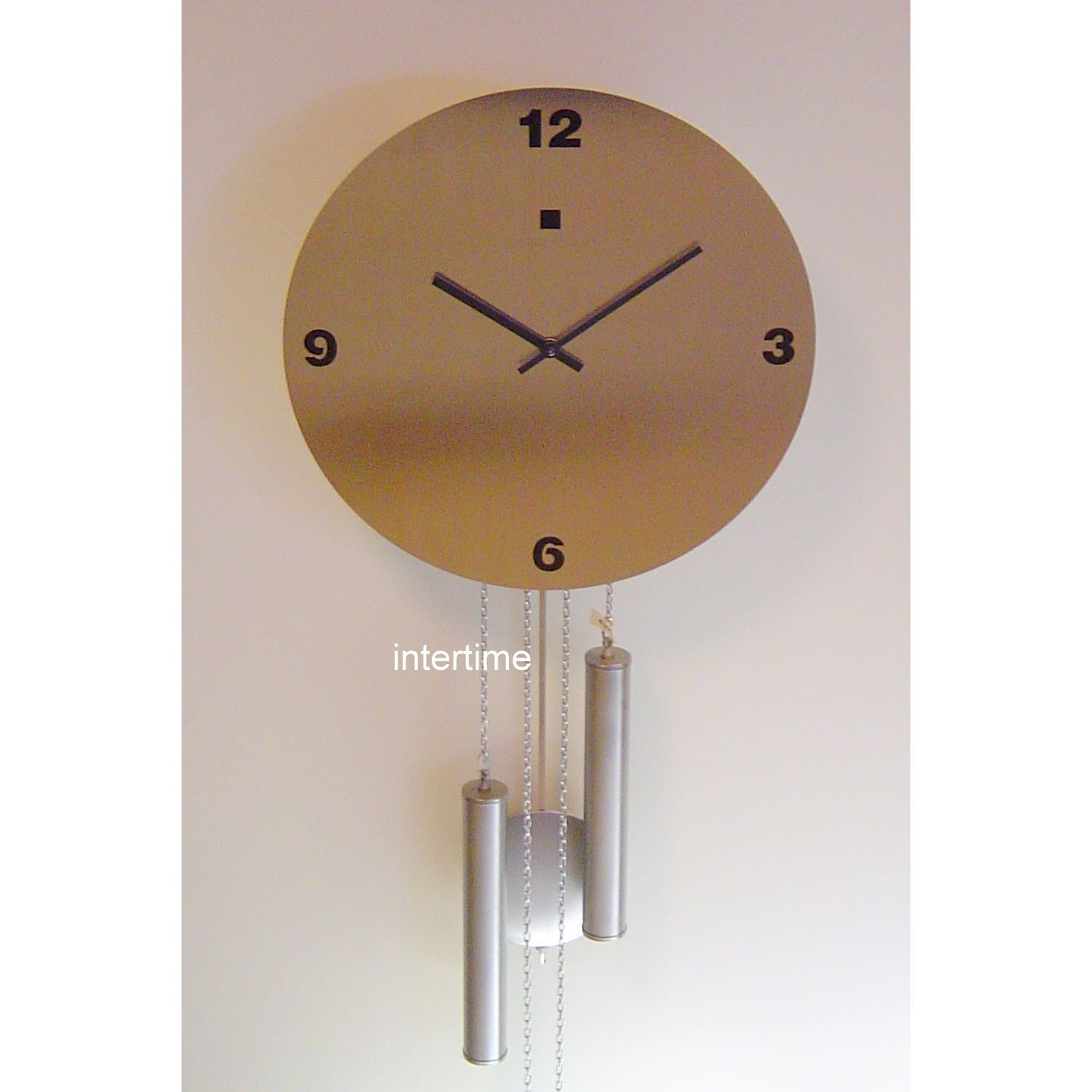 Stainlst. wallclock with BB strike