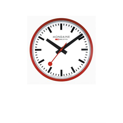 Mondaine Railwaysclock M990.Clock.16SBB red